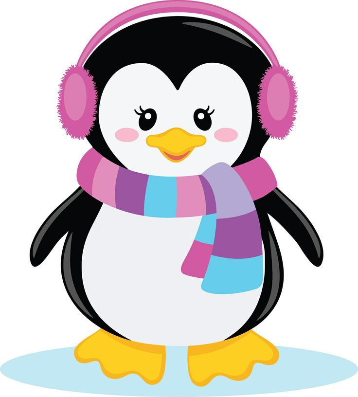Ppbn Designs   Pixel Paper Prints  Girl Penguin With Scarf  0 50