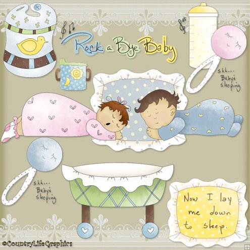Rock A Bye Baby     1 25   Scrapping Goodies Clip Art