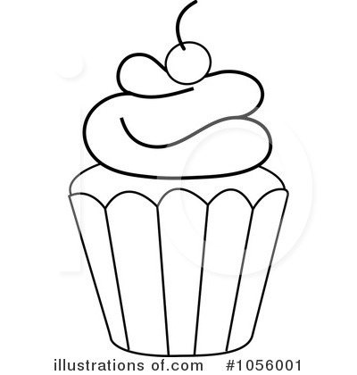 Royalty Free  Rf  Cupcake Clipart Illustration By Pams Clipart   Stock