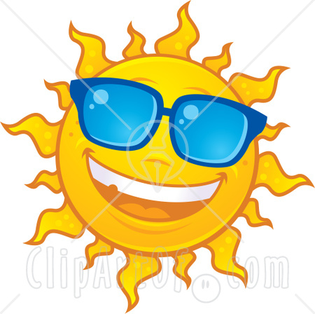Smiling Sun With Sunglasses   Clipart Panda   Free Clipart Images