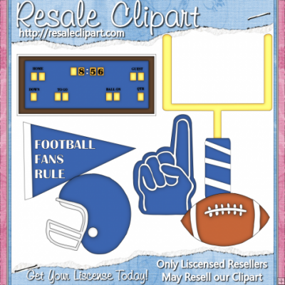 Tailgate Blue    1 25   Resale Clipart 4 You Clipart You Can Create