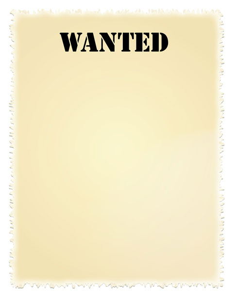 Wanted Poster Clip Art By Karen Arnold