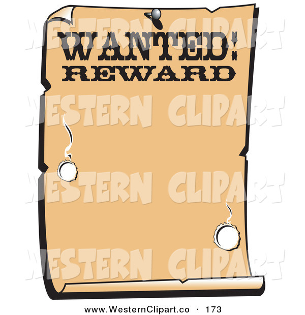 Western Wanted Poster Clip Art Pictures