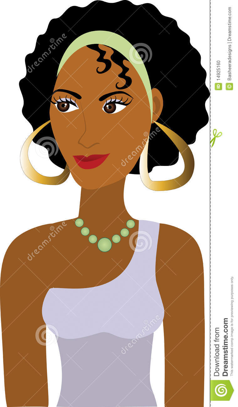 Afro Girl Avatar Stock Photo   Image  14925160