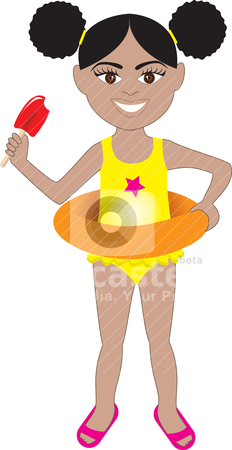 Afro Girl Swimsuit Stock Vector Clipart Vector Of Afro Girl In