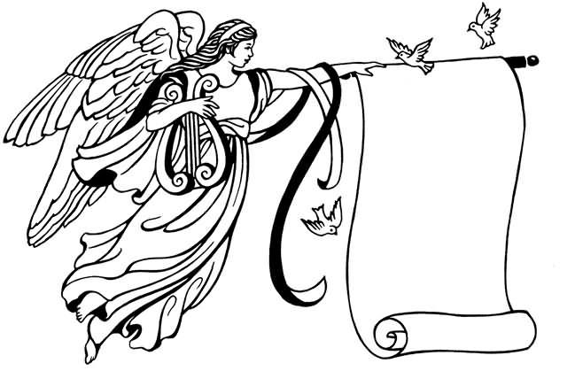 angel outline clip art