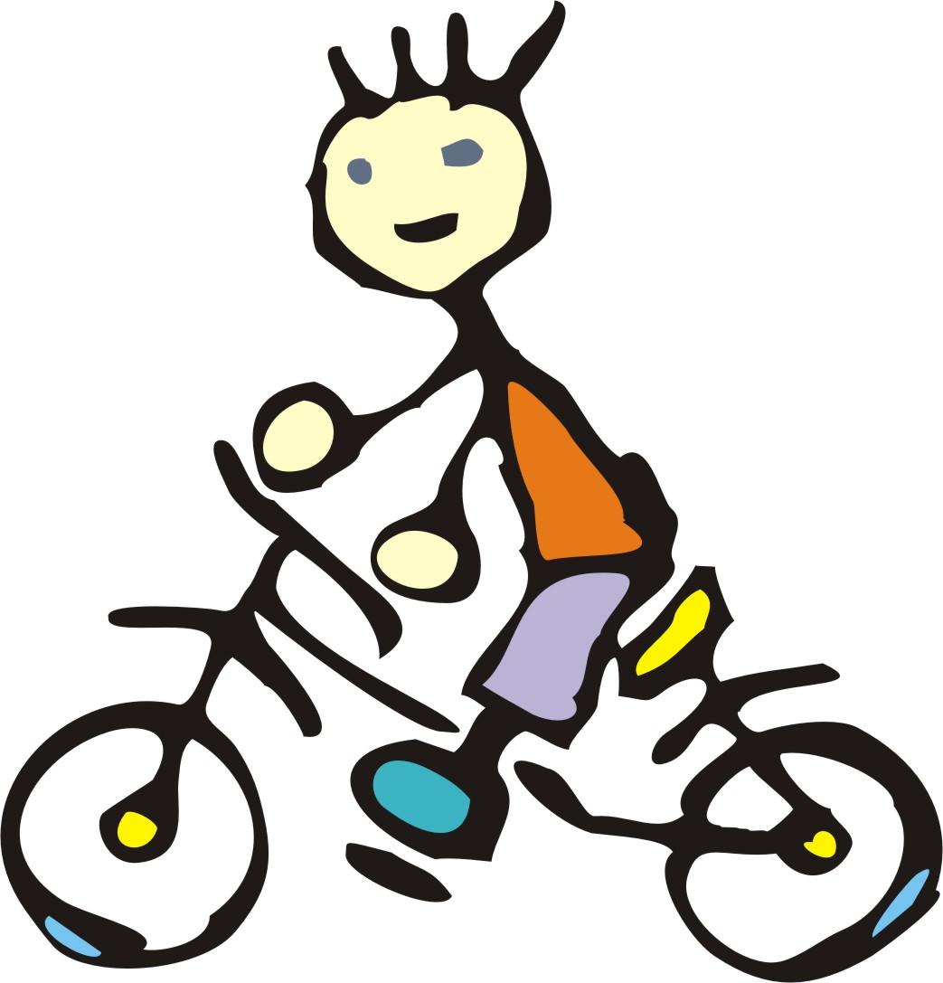 Cartoon Boy Riding Bike