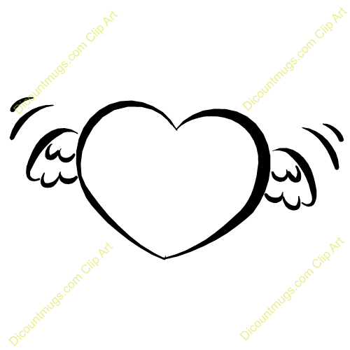 Clipart 11856 Heart With Angel Wings   Heart With Angel Wings Mugs T