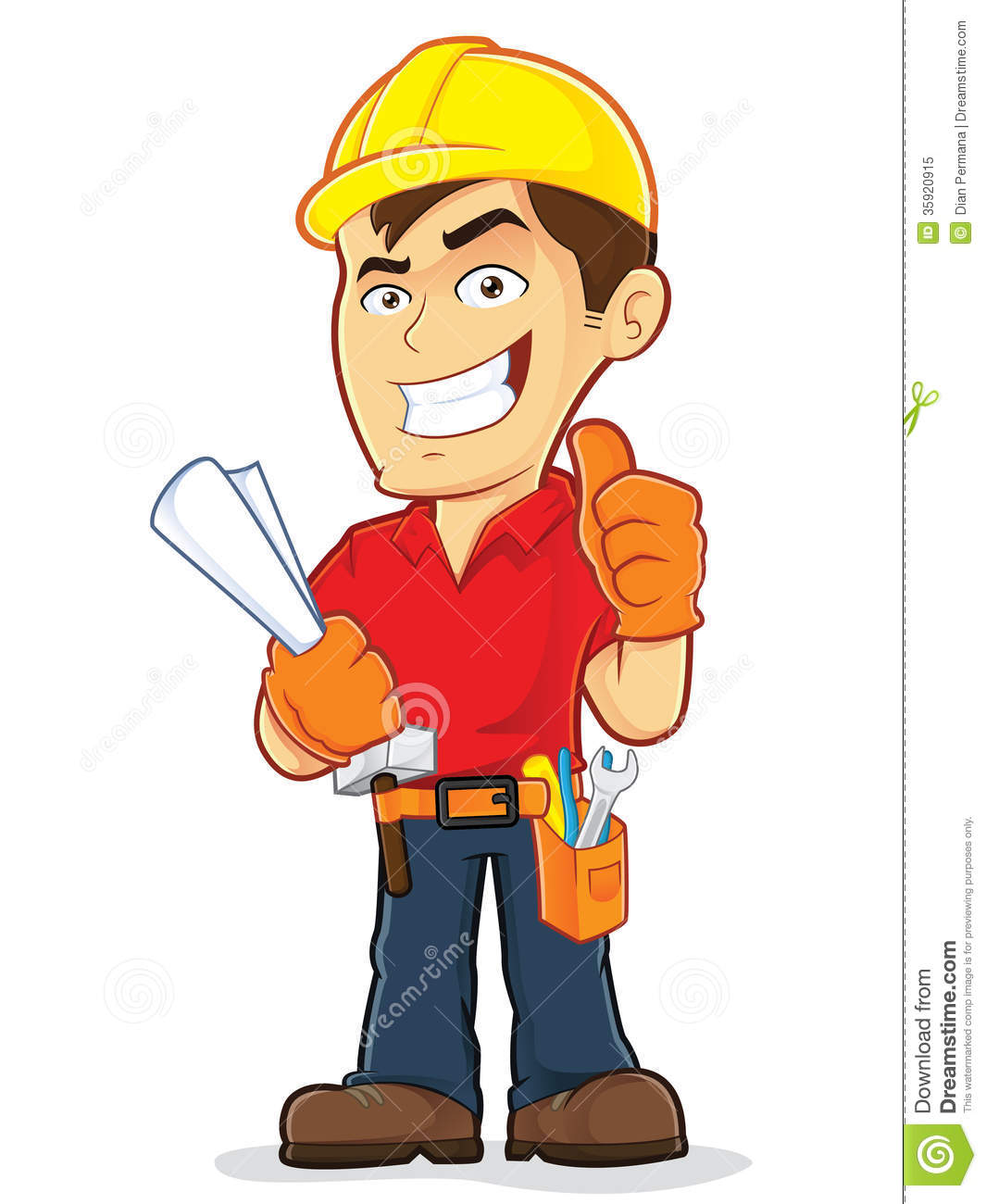 Construction Worker Clipart Picture Cartoon Character 35920915 Jpg