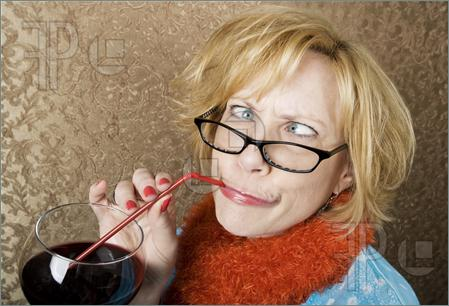 Crazy Woman Drinking Wine Picture  Royalty Free Picture At Featurepics