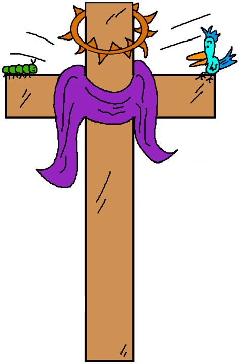 Cross With Thorns Clipart  Easter Cross Clipart
