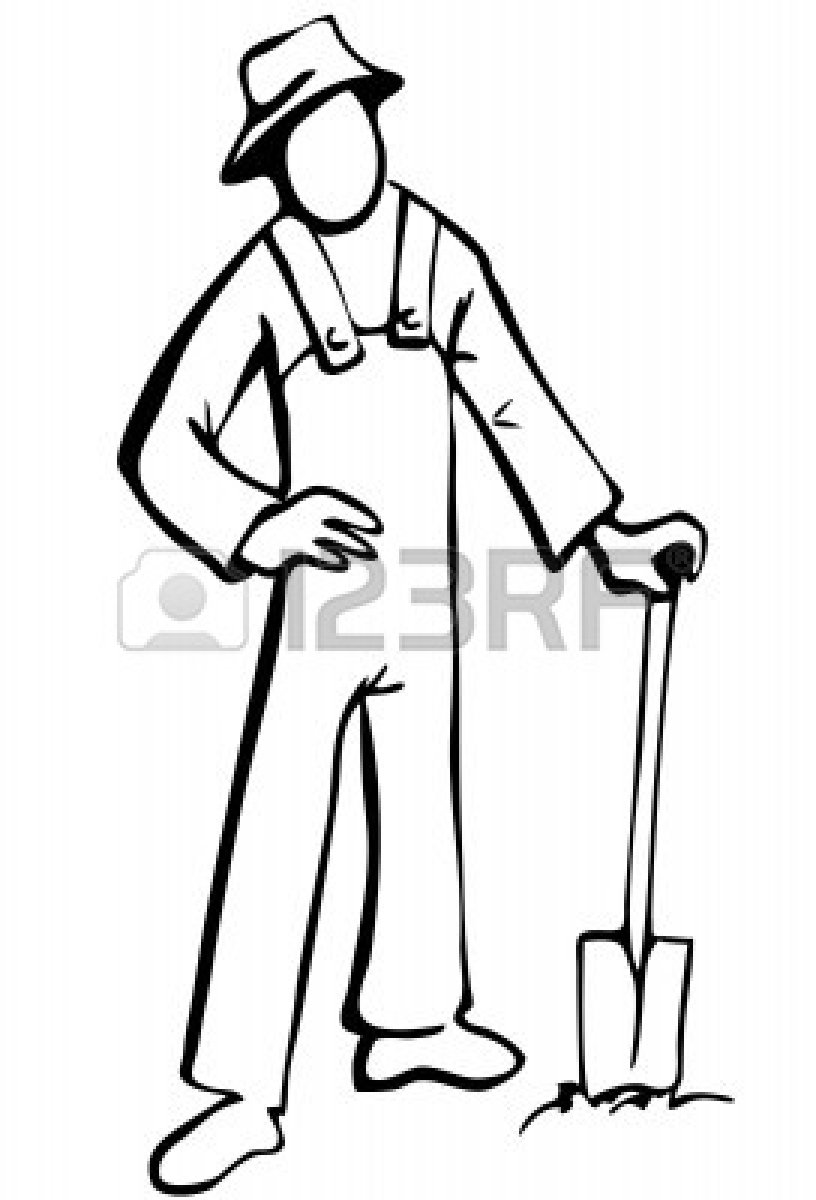 Farmer Hat Clipart Black And White   Clipart Panda   Free Clipart