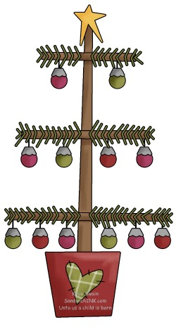 Generation Granny Nanny Loves This Cute Country Christmas Tree Clipart