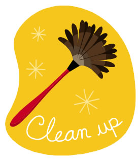 Here Is A Link For Our Green Room Cleaning Schedule