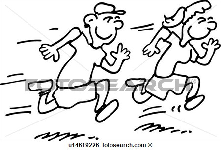 Kids People Run Runner Running Sport View Large Clip Art Graphic
