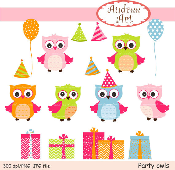 Owls Clip Artcute Owls Partypink Owlspink And Blue Owlsbaby Owls