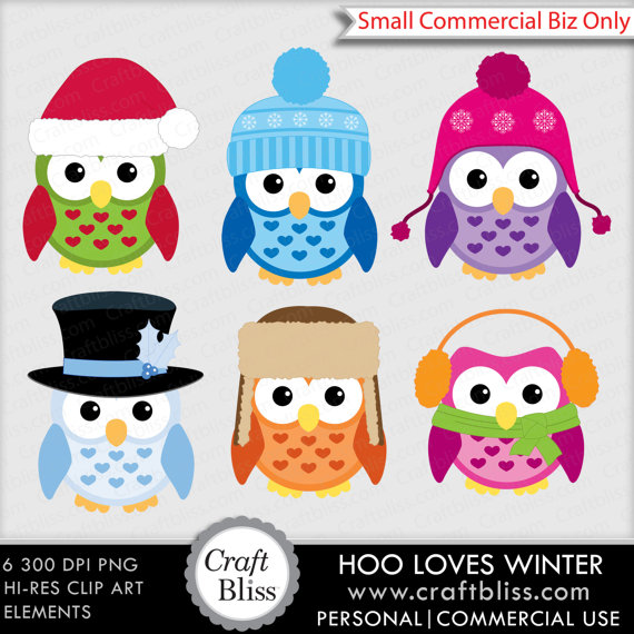 Sale  Winter Hat Owl Clip Art Free No Credit Required License Hoo