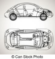 The Most Important Parts Of The Car Stock Illustration