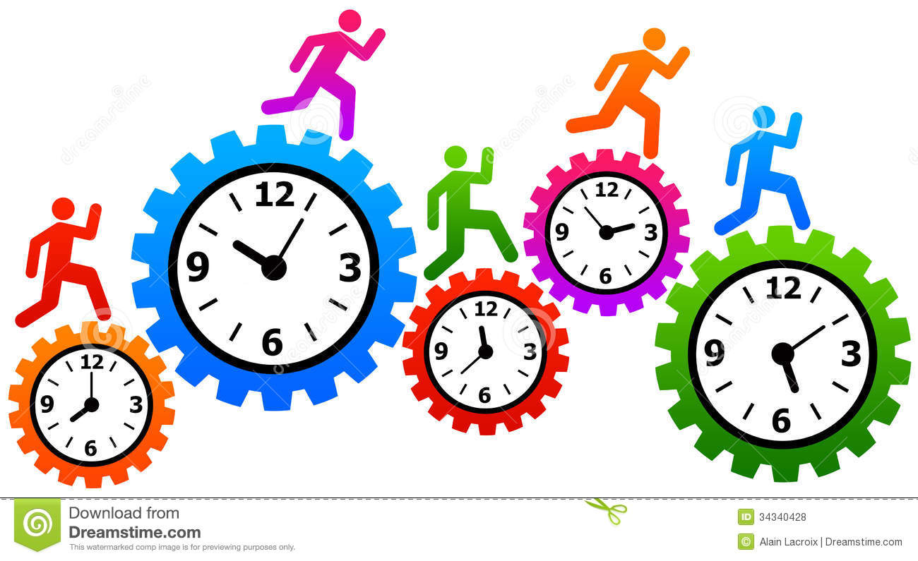 Time And Stress Management Clip Art