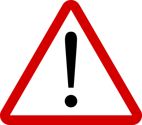 Warning Sign Clip Art At Clker Com   Vector Clip Art Online Royalty