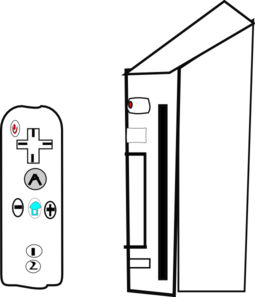 Wii Device With Joystick Clip Art At Clker Com   Vector Clip Art