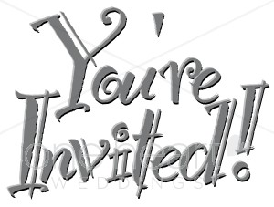 You Re Invited Clipart   Wedding Letters And Word Art