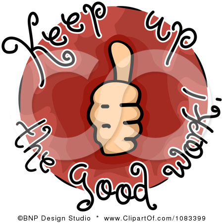 1083399 Clipart Thumbs Up Keep Up The Good Work Icon Royalty Free