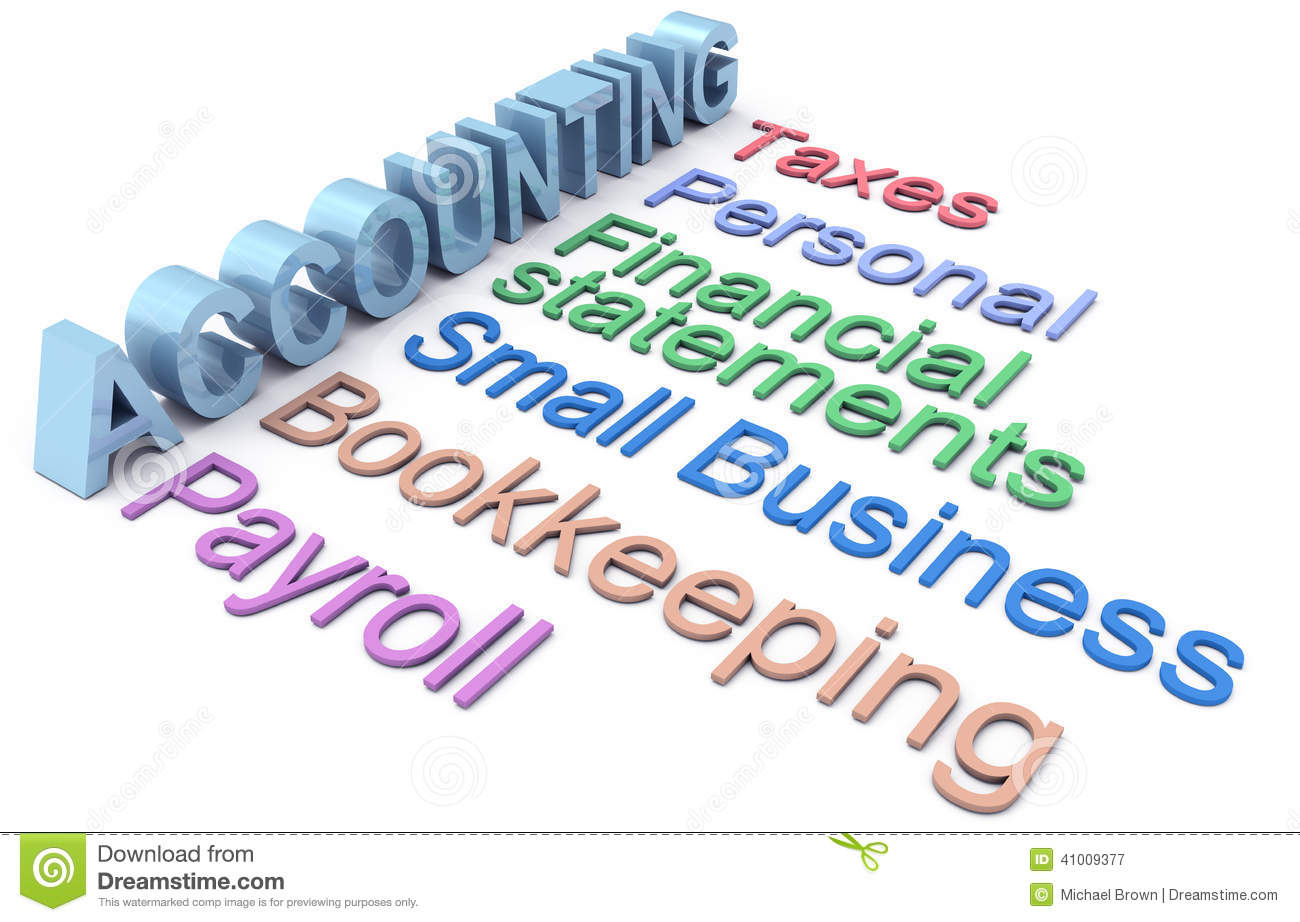 Accounting Tax Payroll Services Words Stock Illustration   Image