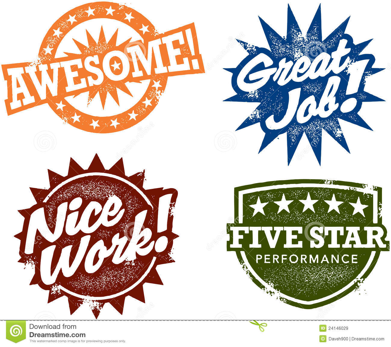 Awesome Performance Reward Stamps Royalty Free Stock Images   Image