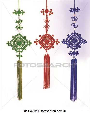 Chinese Culture Luck Mystery Chinese Tassel Asia View Large Photo
