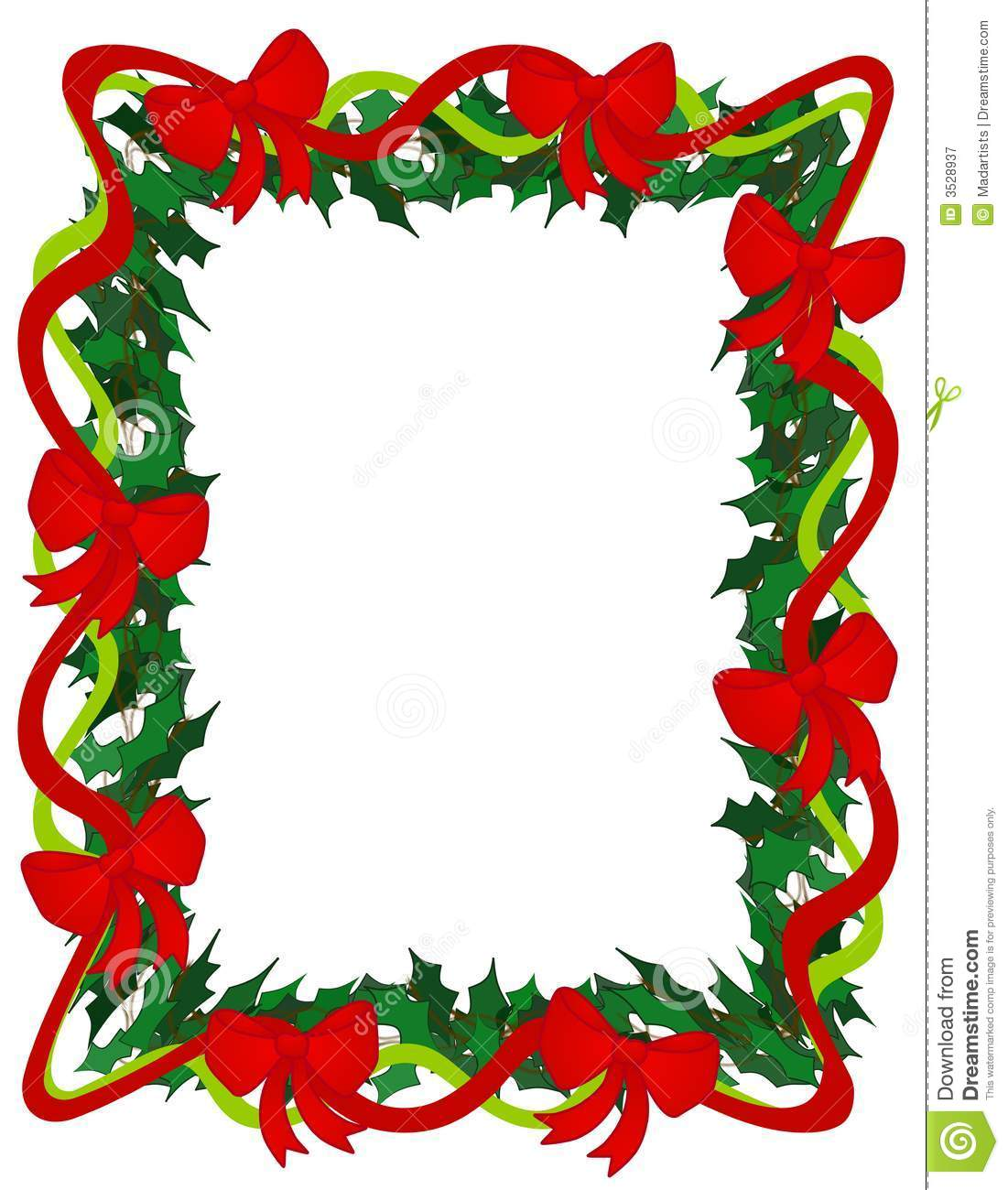 Christmas Green Ribbon Clipart   Clipart Panda   Free Clipart Images