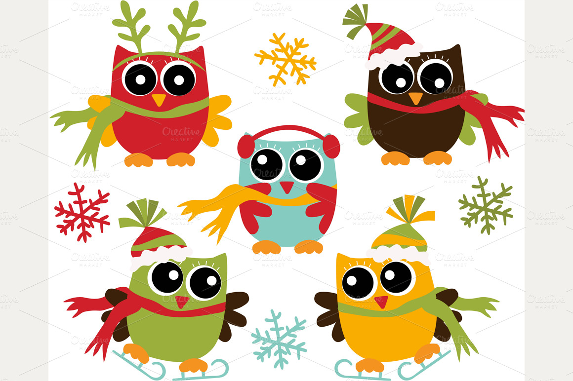 cute christmas owl clipart clipart suggest Merry Christmas Owl Clip Art Cartoon Christmas Owl Clip Art
