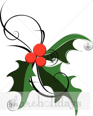 Christmas Wreath Clipart Holiday Cheer Word Art Stylized Christmas