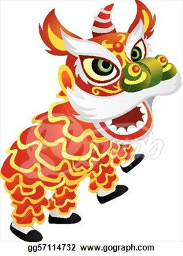 Eps Illustration   Chinese Lion Dance Illustration  Vector Clipart