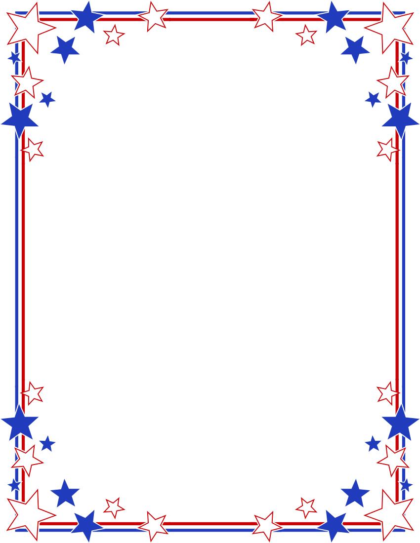 Free Patriotic Clip Art Borders Cliparts Co