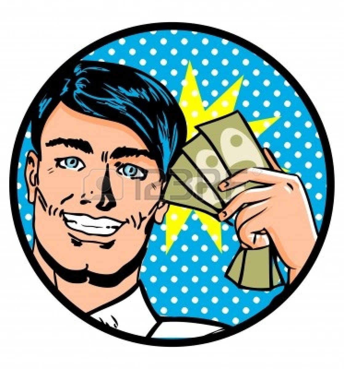 Giving Money Clipart
