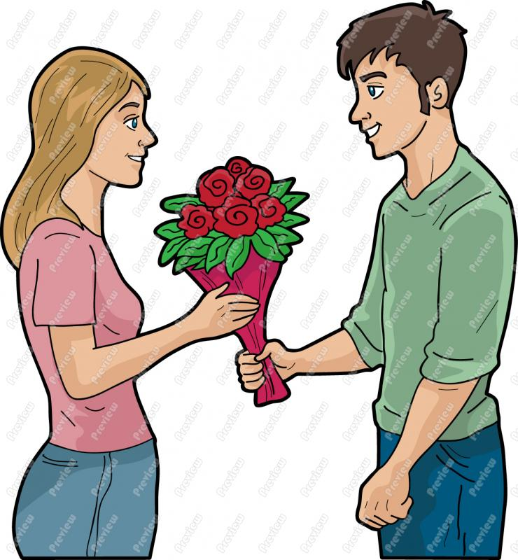 Giving Money Clipart Man Giving Money Clipartman Giving Woman Roses