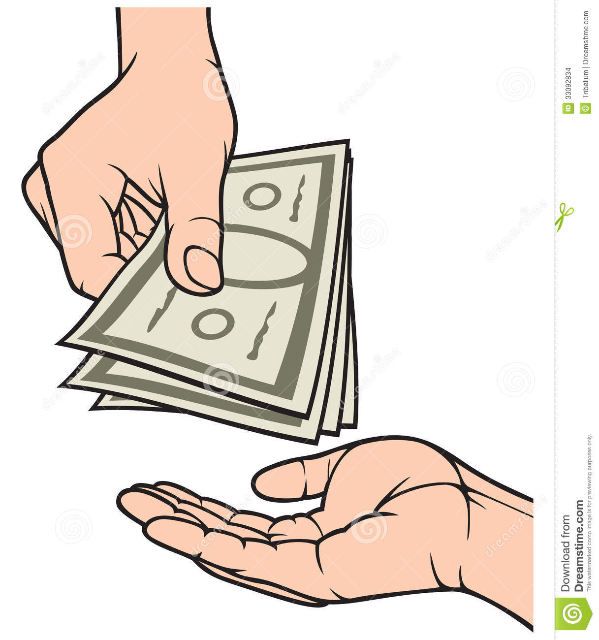 Hand Giving Money To Other Hand Hand With Money Hand Holding