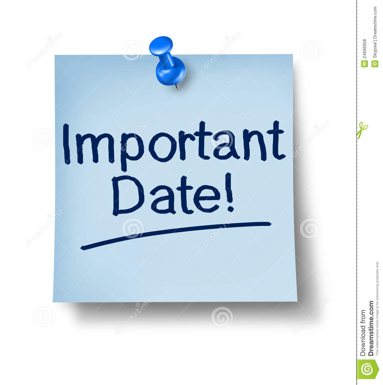 Important Date Office Note Royalty Free Stock Photos   Image  24696958