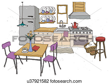 Kitchen Table Clip Art   The Coolest Home And Interior Decorations