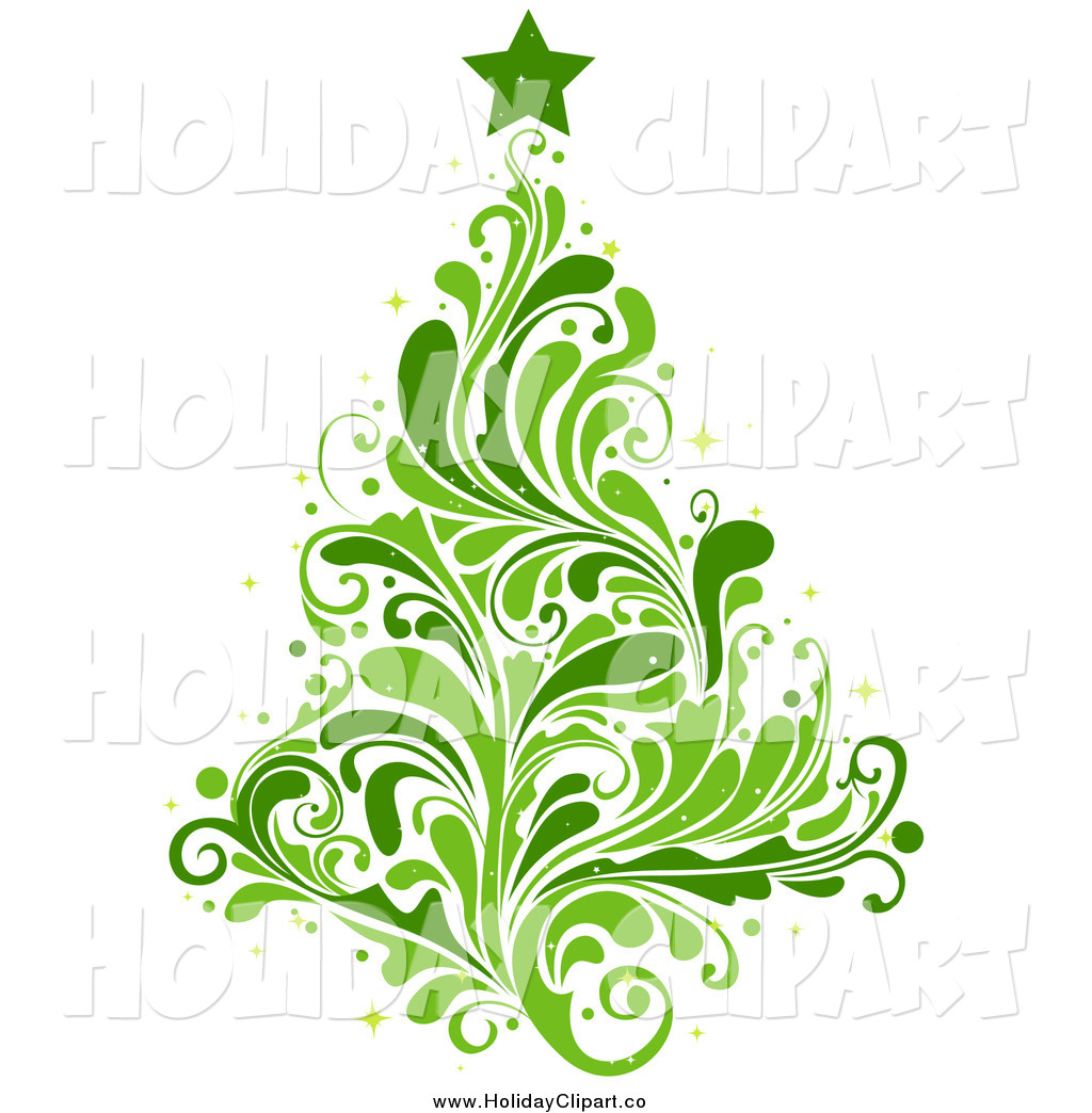 Leafy And Splash Green Christmas Tree By Bnp Design Studio    26725