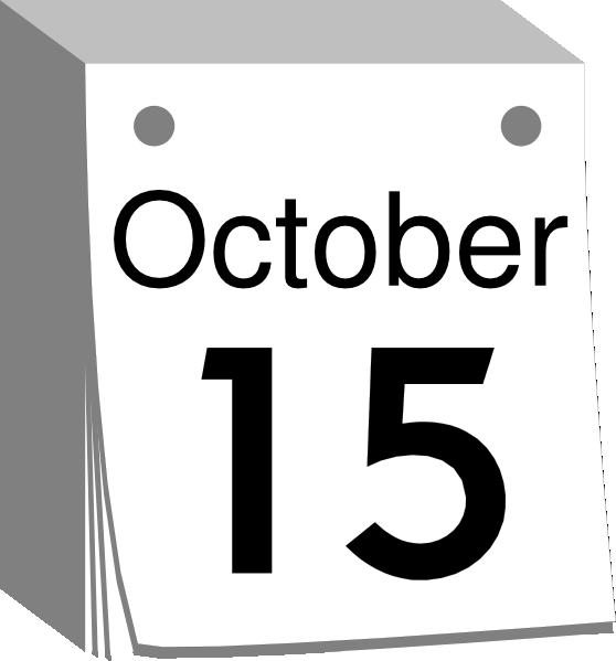 October Calendar Art : October calendar clipart suggest