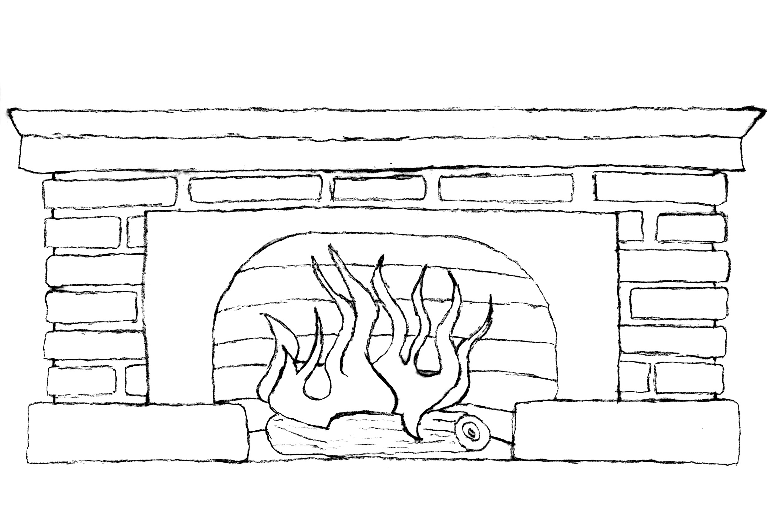 clip art black and white fireplace clipart clipart suggest