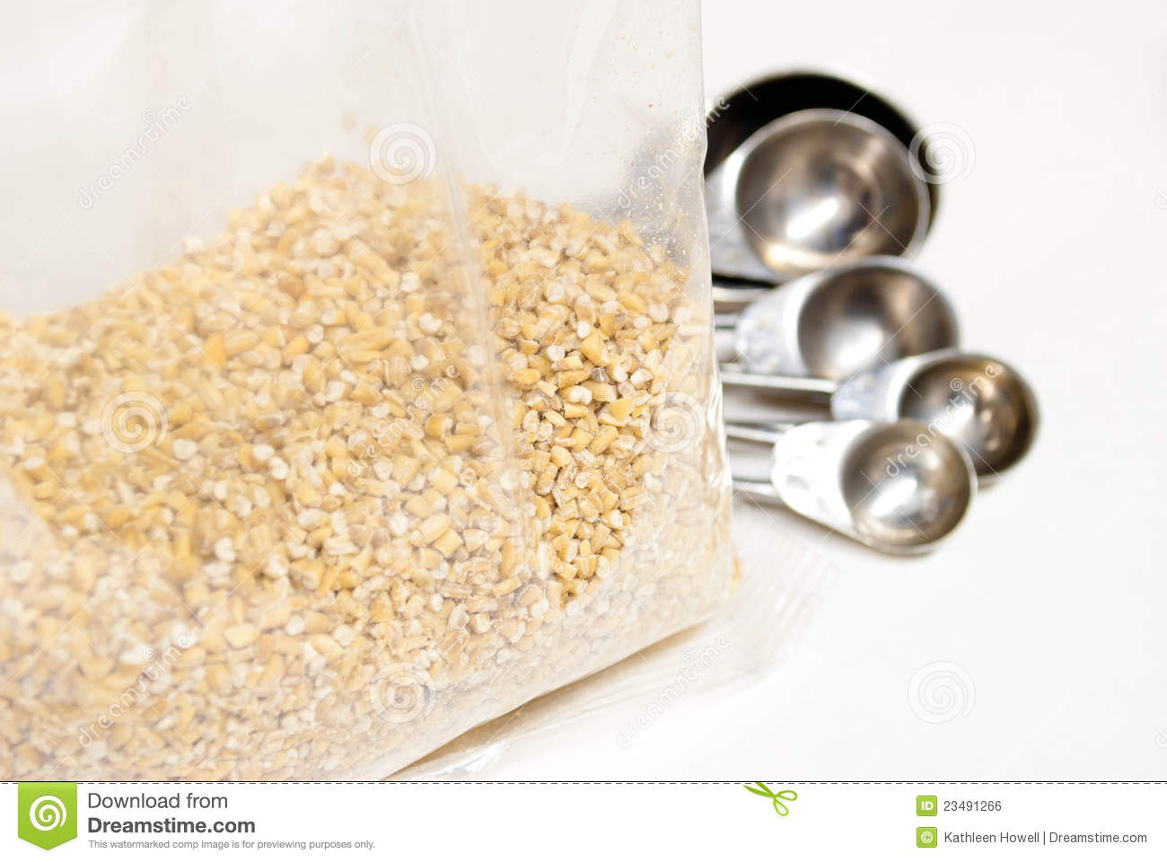 Plastic Bag Of Steel Cut Oats Royalty Free Stock Image   Image