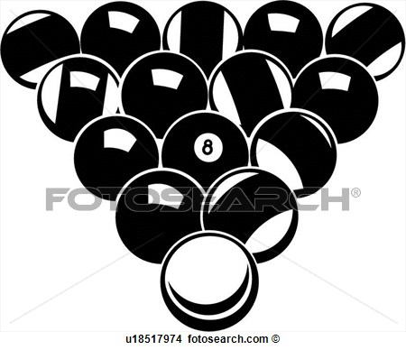 Pool Balls View Large Clip Art Graphic