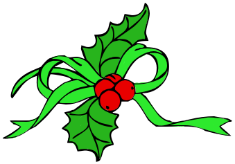 Ribbon With Holly Green   Http   Www Wpclipart Com Holiday Christmas