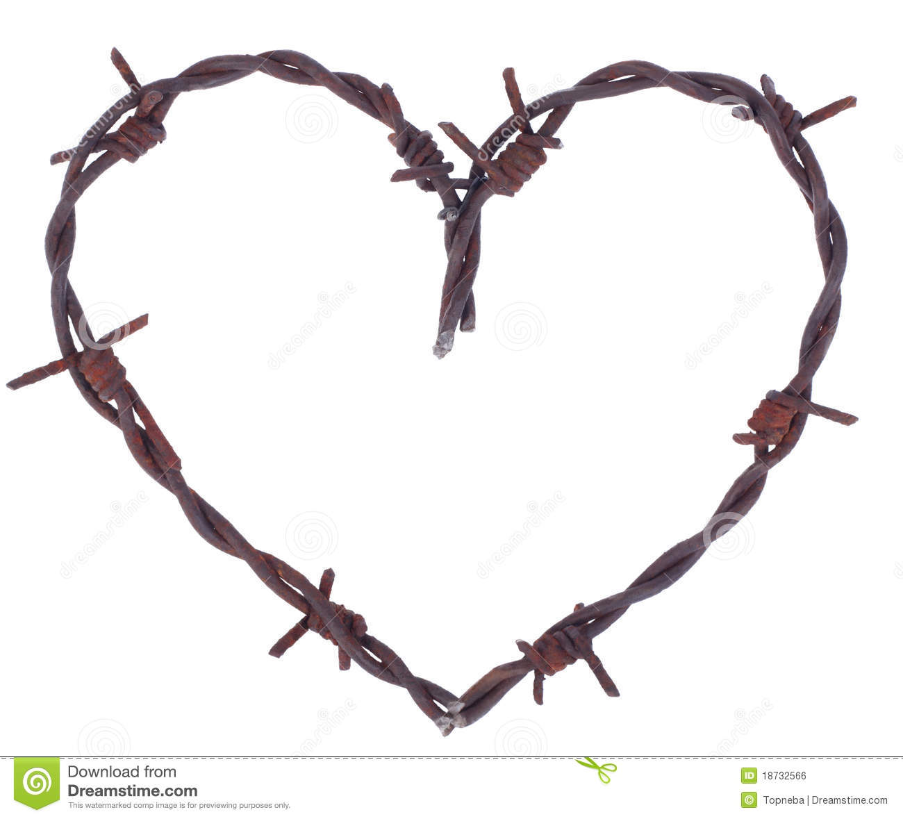 Rustic Heart Clipart Rusty Barbed Wire Heart
