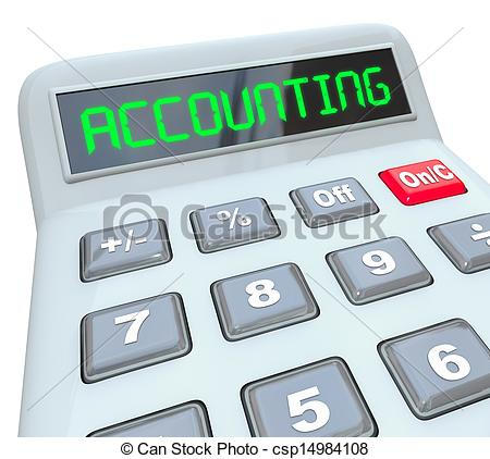 Stock Illustration Of Accounting Word Calculator Bookkeeping Budget