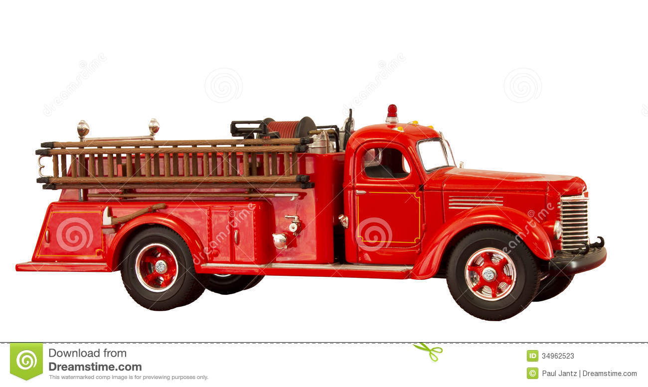 Vintage Fire Truck Stock Photos   Image  34962523