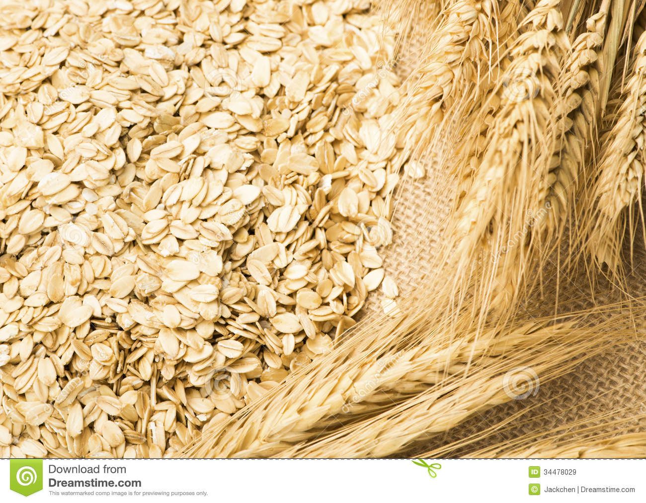 Wheat And Oats On The Burlap Royalty Free Stock Images   Image